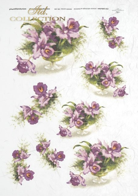Rice Paper R248 Itd Collection Decoupage Paper Flower Orchids