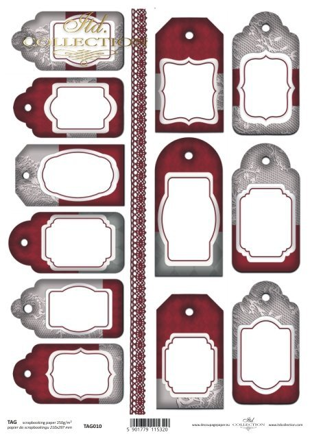 Tags, frames to scrapbooking TAG0010