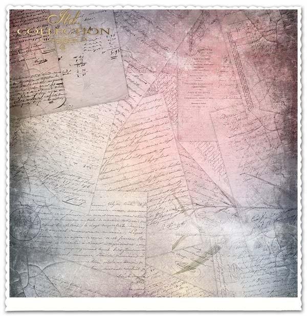 Papier do scrapbookingu - stare listy,znane miejsca, stare auta*Papel para álbumes de recortes - cartas viejas, lugares conocidos, coches viejos