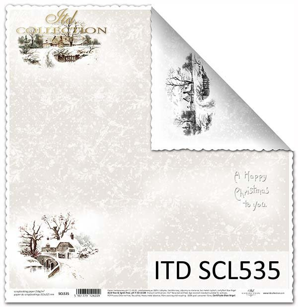 Papier scrapbooking SCL535