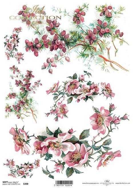 Papír na decoupage květiny*Papel para las flores decoupage*Papier für Decoupage Blumen