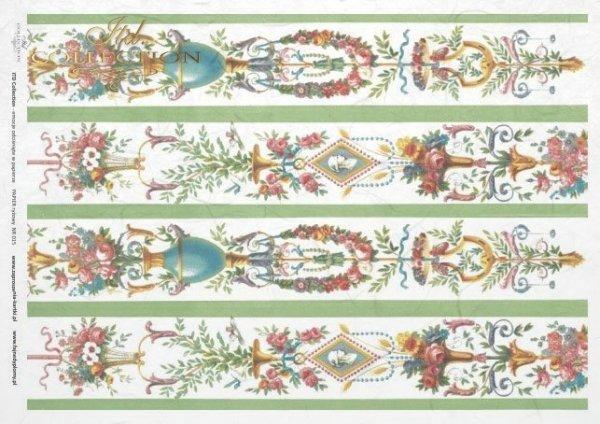 papel de arroz decoupage - flores, adornos, Vintage*rýžový papír decoupage - květiny, ozdoby, Klasická*Reispapier Decoupage - Blumen, Ornamente, Jahrgang