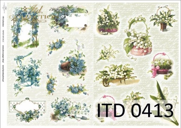 Papier decoupage ITD D0413