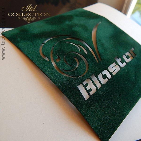 Papier do scrapbookingu ''flok'' kolor zielony A4 * PSS010