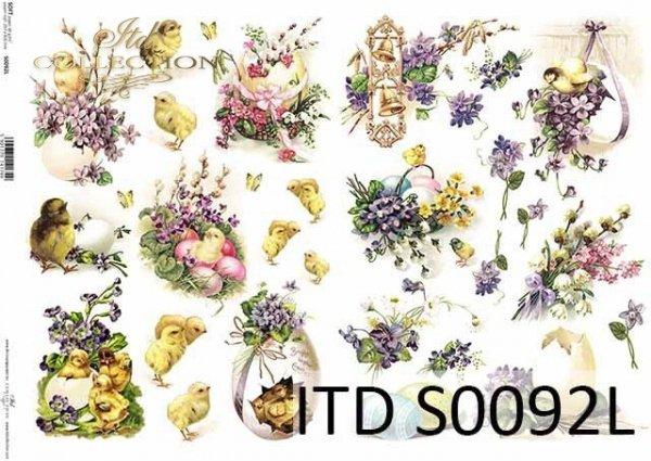 Papier decoupage SOFT ITD S0092L