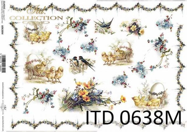 Papier decoupage ITD D0638M