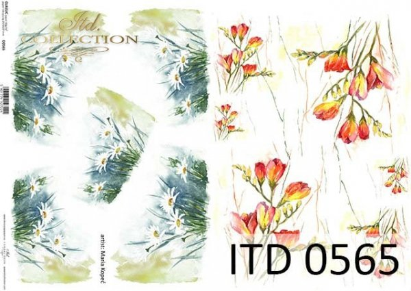 Papier decoupage ITD D0565