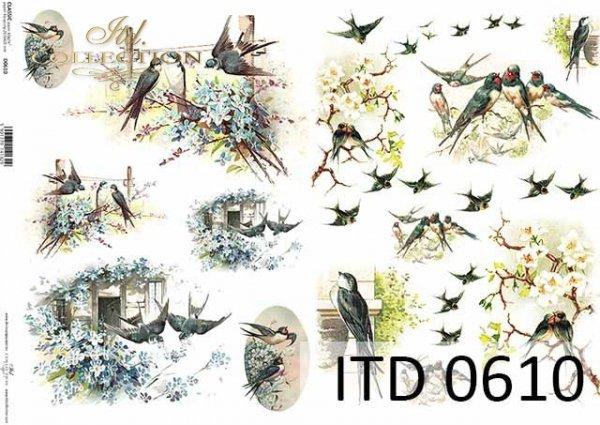 Papier decoupage ITD D0610