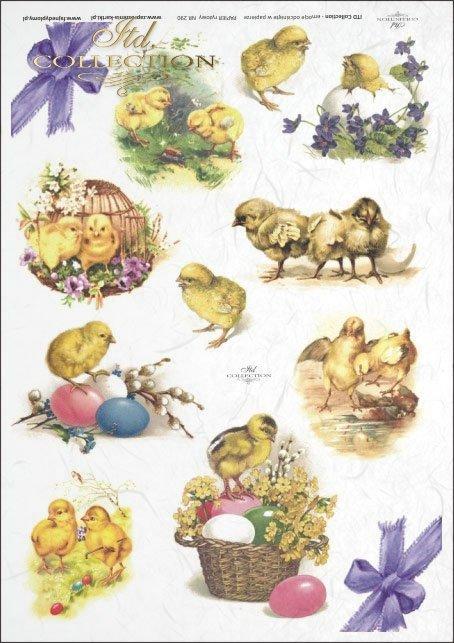 Easter, chickens, flowers, spring, eggs, Easter eggs, R290