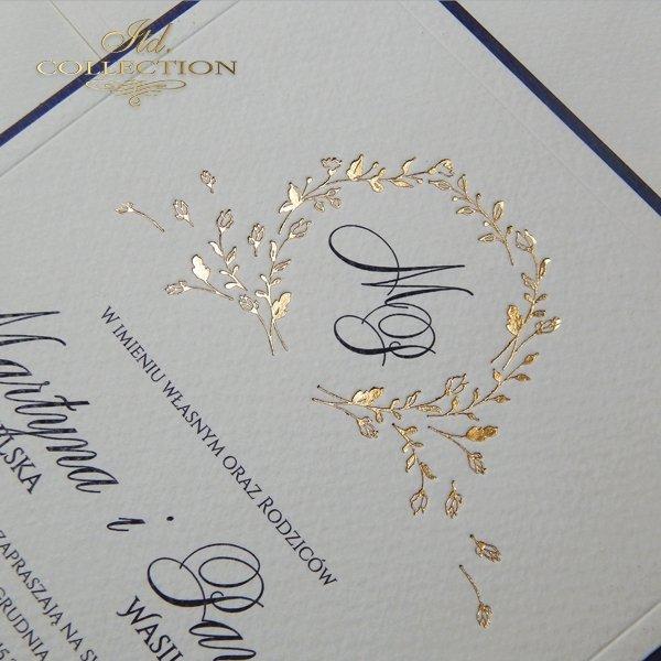 Zaproszenie 2070 Ekskluzywne Zaproszenia ślubne