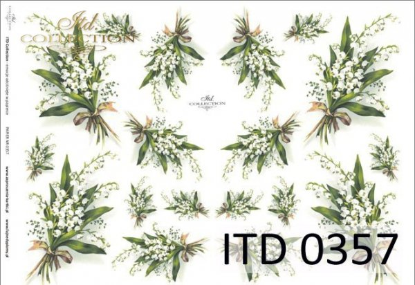 Papier decoupage ITD D0357