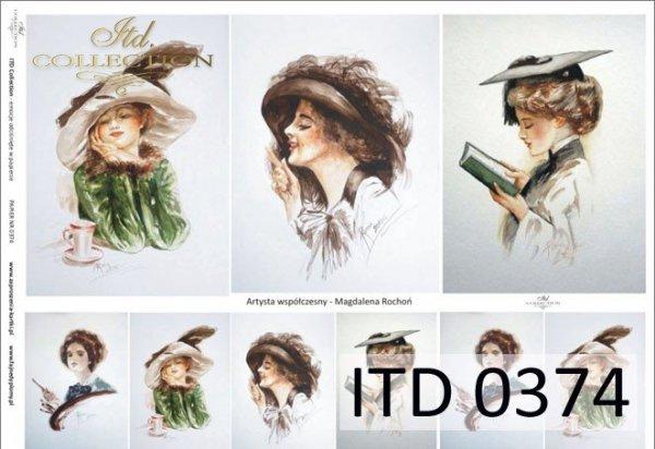 Papier decoupage ITD D0374