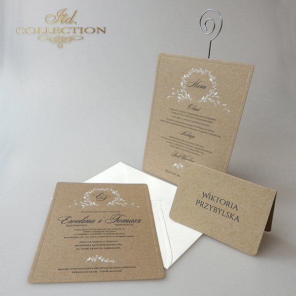Zaproszenia ślubne / zaproszenie 2024