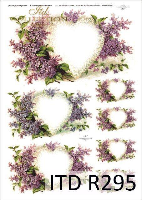 walentynki, serce, bez, kwiaty, R295
