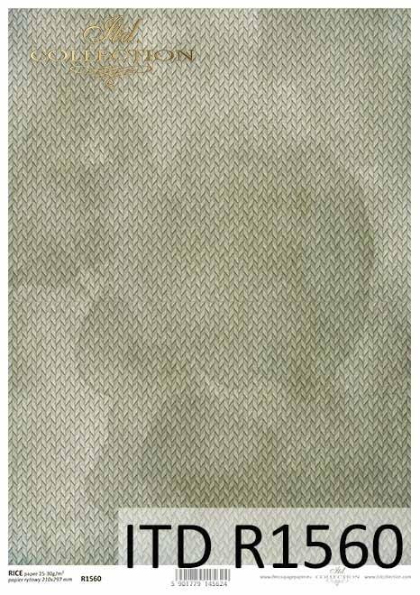 Papier decoupage szaro-zielone tło*Decoupage paper gray-green background