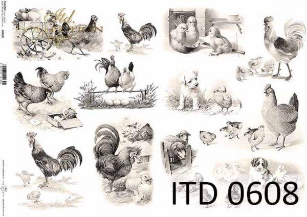 Papier decoupage ITD D0608