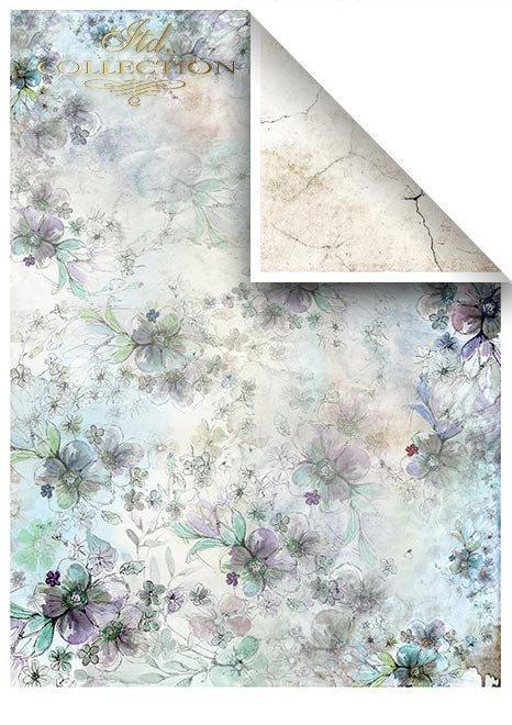 Zestawy-papierow-do-scrapbookingu-zestaw-Lato-w-blekitach-SCRAP-046-09-ptaszki-motylki-akwarelowe-kwiatki-mediowe-struktury-tla-struktury-farb-desek-spekalin-crak