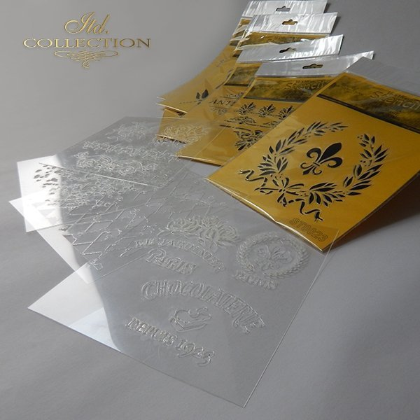 Szablony-maski do scrapbookingu, decoupage, Mix Mediów*Templates-masks for scrapbooking, decoupage, Mix Media*Plantillas-máscaras para scrapbooking, decoupage, Mix Media