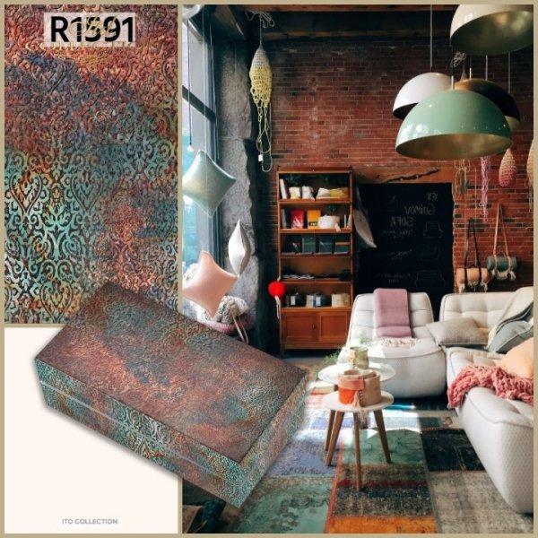 wzor-tapetowy-telko-kolorystyka-rdza-turkus-zloto-granat-Do-decoupage-Papier-ryzowy-decoupage-R1591-3