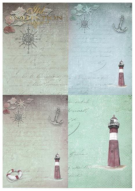 Papeles de Scrapbooking en sets - Aventura marinera * Scrapbooking-Papiere im Set - Seefahrt-Abenteuer * Бумага для скрапбукинга в наборах - Морское приключение