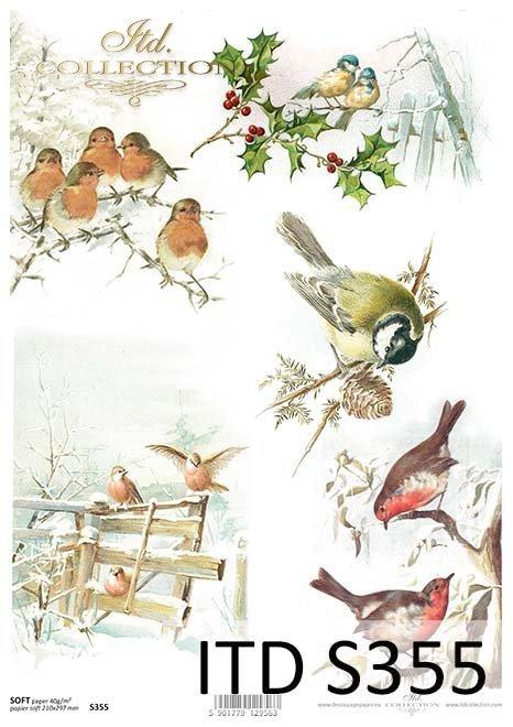 papier decoupage ptaki*decoupage paper birds