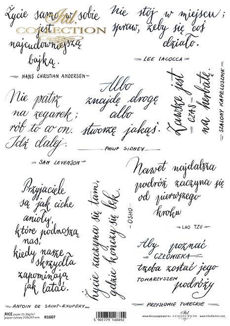 R1607 small M-cytaty-aforyzmy-powiedzonka-idealna-do-art-jouranli-pamietnikow-szkatulek-kaligrafia-czcionka-pisana