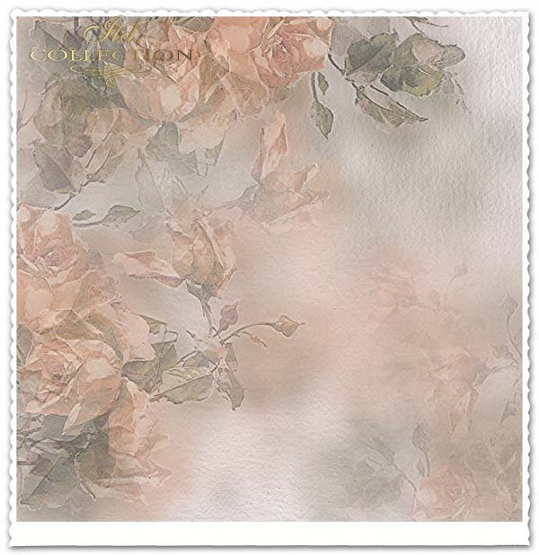 papier do scrapbookingu, kwiaty, żółte róże*Scrapbooking paper, flowers, yellow roses