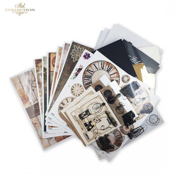 Old Journal*sepia, stare papiery, napisy, pismo, tusz, vintage, stalówki, maszyna do pisania, inicjały, okucia, ramki, metalowe ramki, stalówki