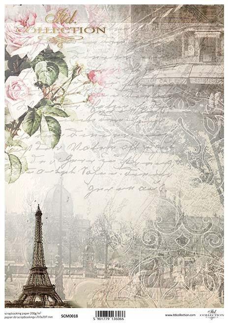 Scrapbooking Papier der Weinlese*Винтажная бумага для скрапбукинга*Papel de scrapbooking vintage