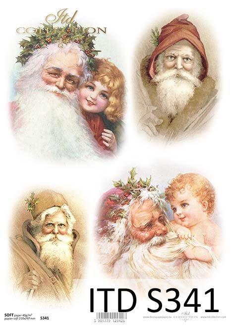 Papier decoupage świąteczny, Mikołaj*The paper decoupage Christmas, Santa Claus
