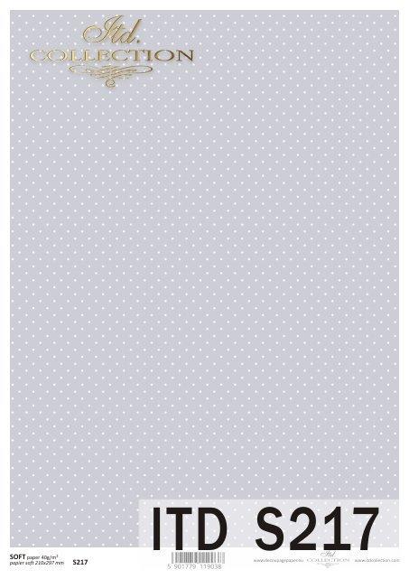Papier decoupage SOFT ITD S0217