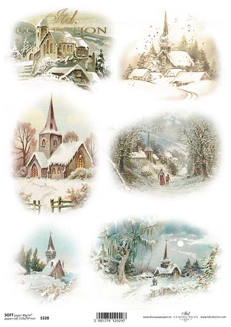 Invierno Papel Decoupage*Papír Decoupage zima*Papier Decoupagepapier Winter