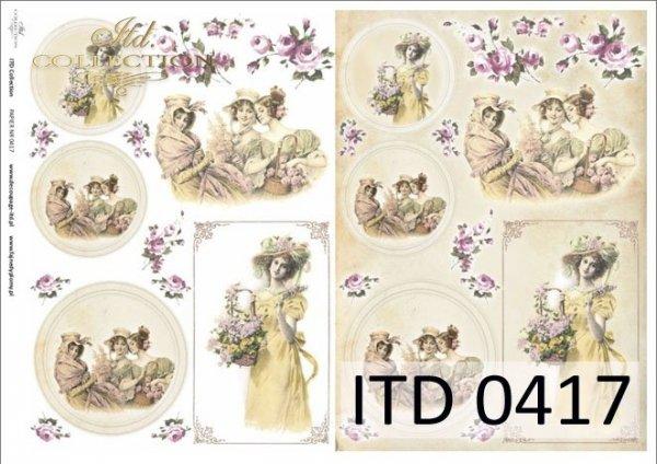 Papier decoupage ITD D0417