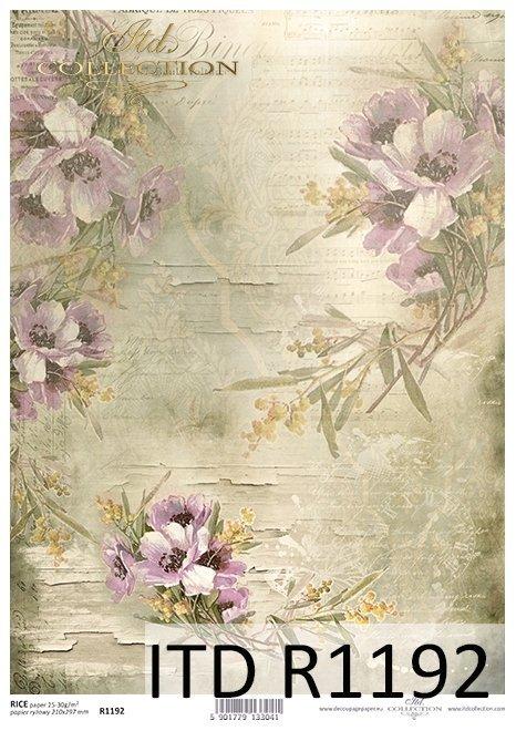papier decoupage polne kwiaty*Paper decoupage wildflowers