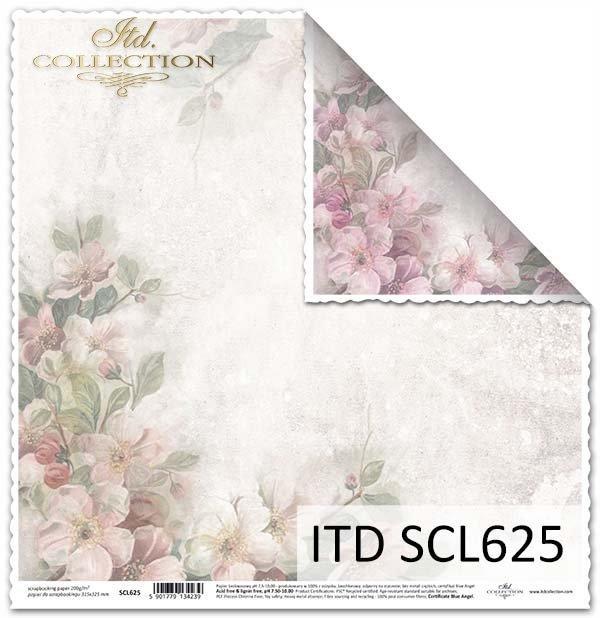 papier do scrapbookingu kwiaty jabłoni*Paper for scrapbooking apple blossoms