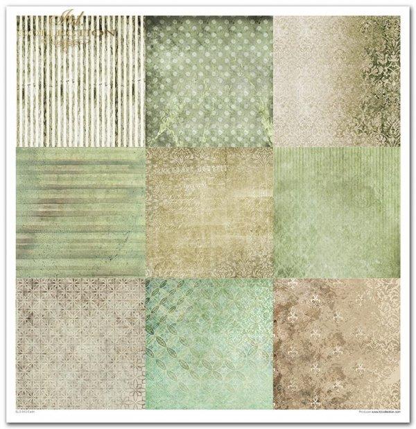 Cztery żywioły - Ziemia, tła, tapety, wzorki, paski, kropki. Odcienie: zielenie, brązy, beże