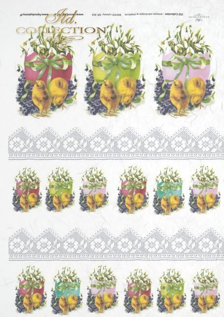 Easter, chickens, flowers, spring, eggs, Easter eggs, lace, laces, R304