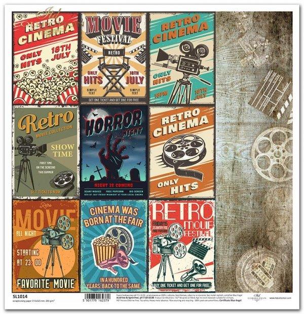 retro plakaty filmowe, szpule*retro movie posters, reels*Retro-Filmplakate, Filmrollen*carteles de cine retro, carretes