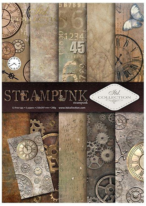 Papier-scrapbooking-paper-zestaw-SCRAP-043-Steampunk-00