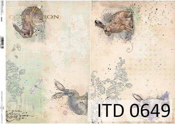 Papier decoupage ITD D0649