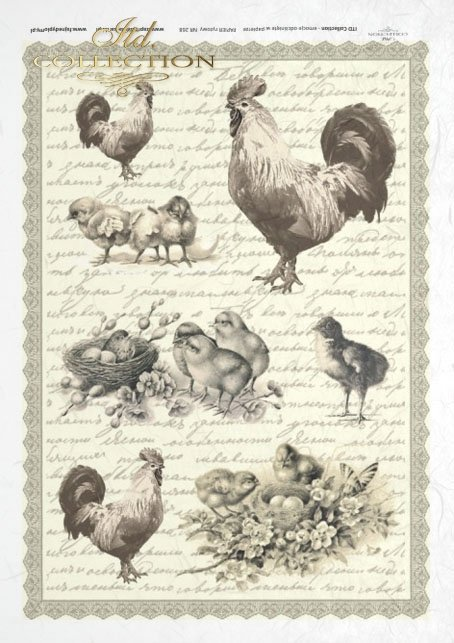Easter, spring, retro, eggs, chickens