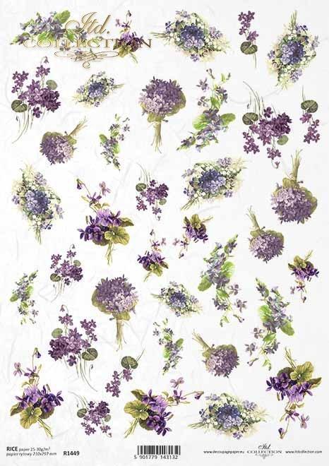 flores, violetas, lirios del valle, pequeños elementos*Blumen, Veilchen, Maiglöckchen, kleine Elemente*цветы, фиалки, лилии долины, небольшие элементы