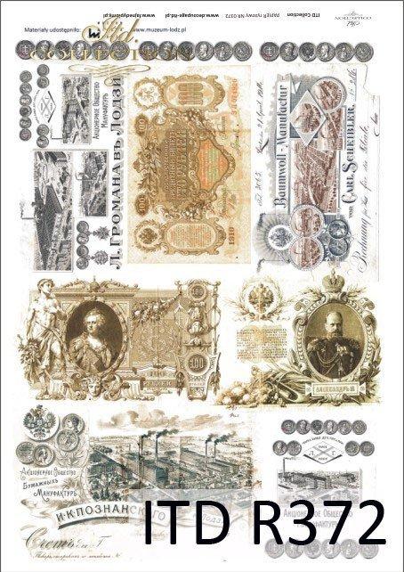 pieniądz, pieniądze, banknot, stare banknoty, moneta, dawne monety, Carska Rosja, R372, Łódź, Lodz, Muzeum Miasta Łodzi, The Museum of Lodz