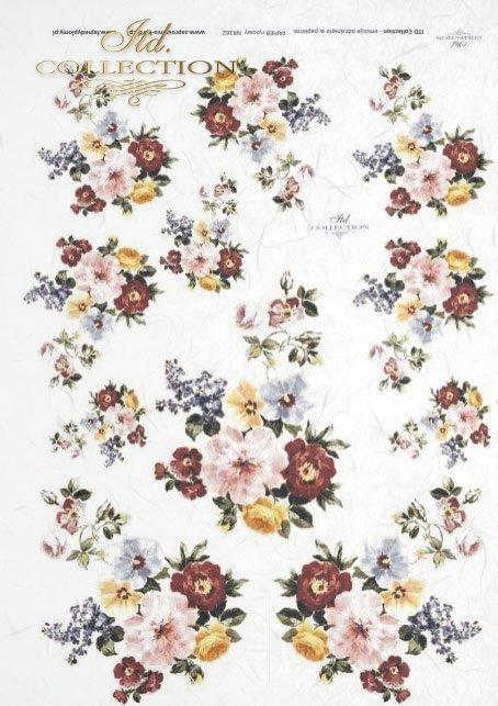 papier-ryżowy-decoupage-łąka-ogród-lato-bukiet-kwiaty-R0162