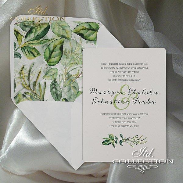 Zaproszenie 2062, zaproszenia ślubne*2062 invitation, wedding invitations
