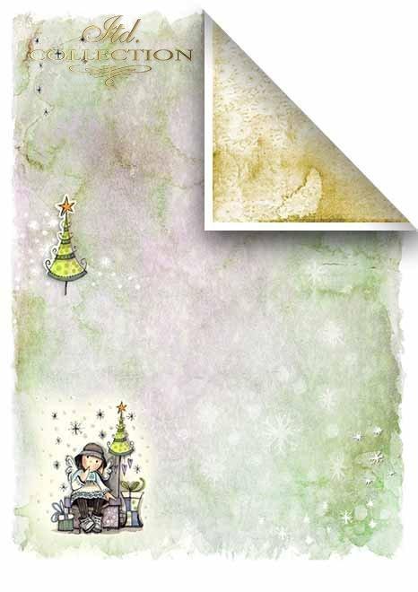 Papeles para scrapbooking en sets - Ángeles y estrellas*Бумаги для скрапбукинга в наборах - Ангелы и звезды