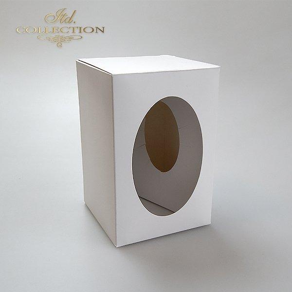 Pudełko na jajko 9 cm*idealne na jajko przeźroczyste dekorowane decoupage lub scrapbookingiem