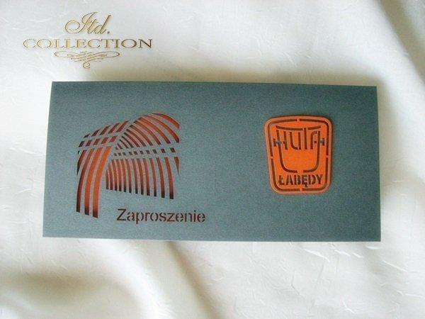 Zaproszenie biznesowe ZB1028 z kopertą