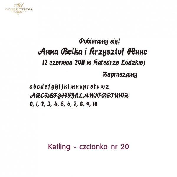 Czcionka na zaproszenie 20
