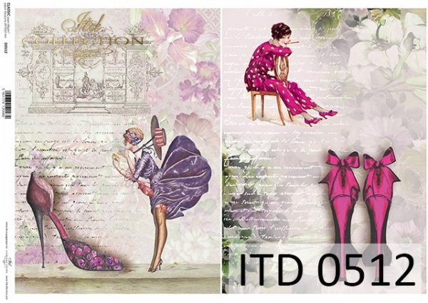 Papier decoupage ITD D0512